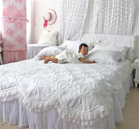 Beautiful White Comforter Sets by Custommade Beautiful Comforters Sets White Lace Ruffled