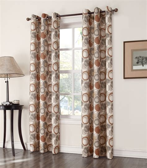 print curtains and window treatments newfane woven grommet window panel atomic print home