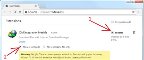 chrome internet download manager i do not see idm extension in chrome extensions list how