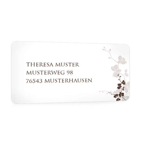 Adressaufkleber Creme by Floraler Adressaufkleber F 252 R Die Hochzeitspost In Creme