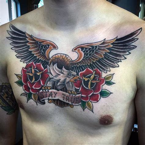 100 eagle chest tattoo 50 collection of 25 chest eagle design
