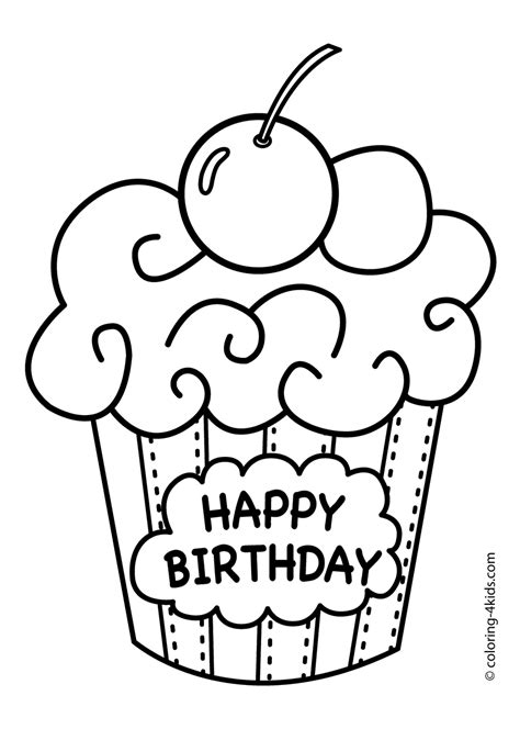 happy birthday coloring pages  sun flower pages