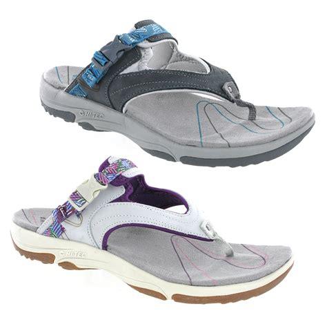 comfortable walking sandals for women new womens hi tec harmony thong mules sports walking
