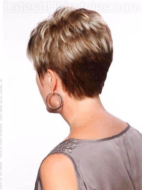 mature hairstyles back view medium short haircut short hairstyles for mature women