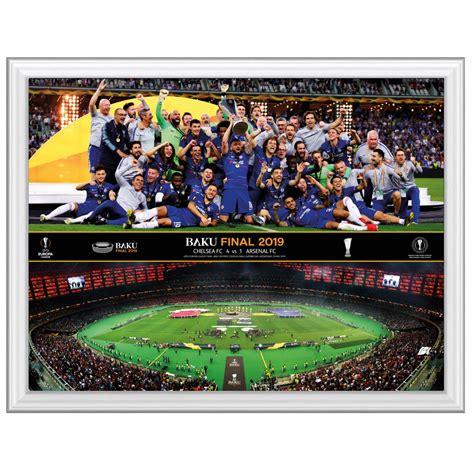 chelsea  arsenal europa league framed montage prints