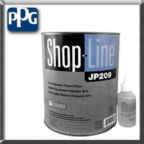 ppg shopline gray polyester primer filler quart jp209 04