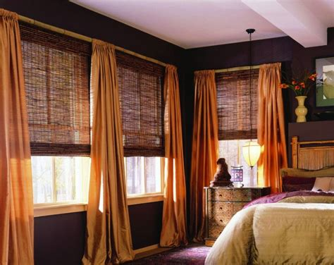 woven wood curtains window treatment with woven wood blinds and curtains