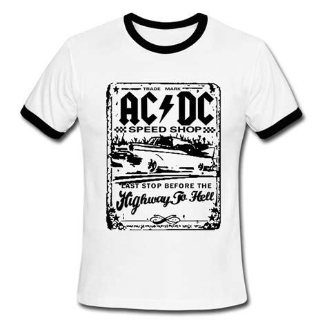 Ac Dc 51 T Shirt Size M New Fashion Camisetas Ac Dc Speedshop T Shirts Mens Acdc