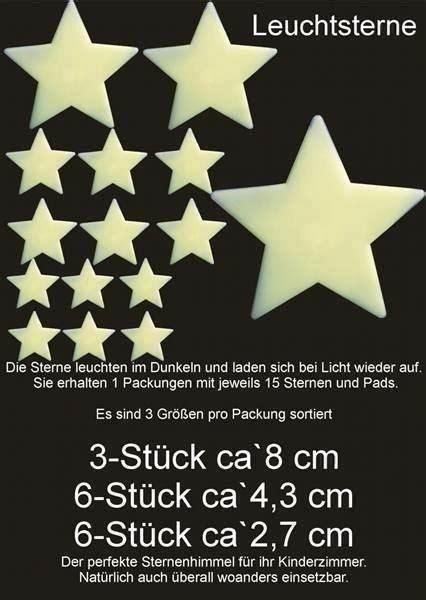 Selbstklebende Leuchtsterne F 252 R Die Wand Und Decke