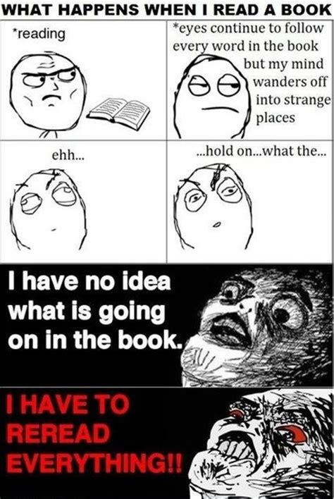 rage comics when i am reading a book dump a day