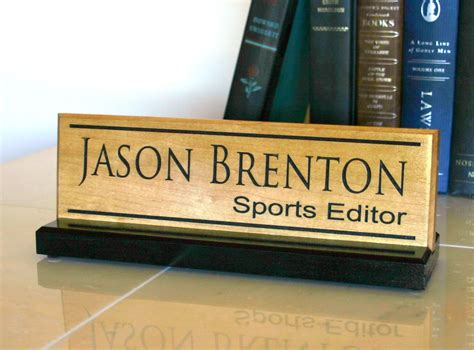 Custom Desk Plaque by Desk Name Plate Personalized Desk Name Sign Door Name Plate