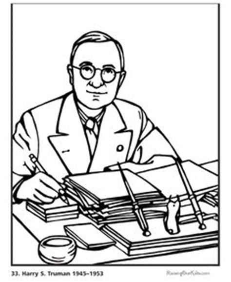harry s truman coloring page cold war for kids