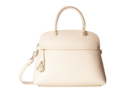 Furla Piper Dome Medium furla piper medium dome in white lyst