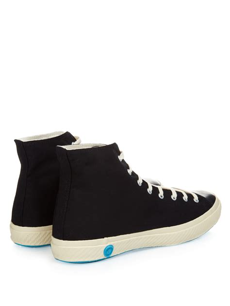 shoes like pottery canvas high top sneakers in black for