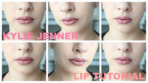 youtube tutorial kylie jenner lips kylie jenner makeup lips tutorial youtube