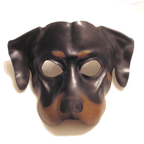 leather puppy mask rottweiler leather mask