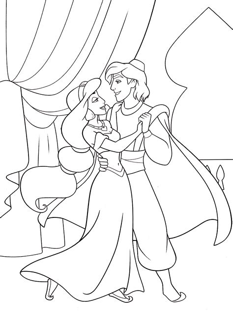 coloring pages of disney princess jasmine walt disney coloring pages princess jasmine prince