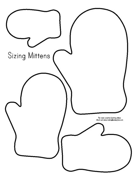 pattern templates mitten outline printable new calendar template site