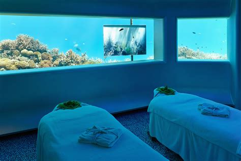 underwater bedroom in maldives sleep with the fishes in an underwater hotel abode