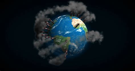 Kaos Save Earth From Pollution planet earth environment pollution with smoke global