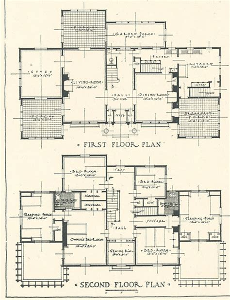 Mr Blandings Dream House Floor Plans | architectural plans for mr blandings type dream house