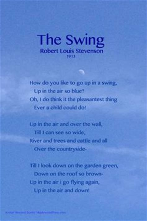 the swing poem by robert louis stevenson langston hughes quot april rain song quot words w o r d p l a