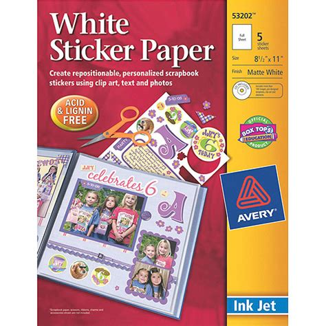 printable stickers walmart avery dennison ink jet printable sticker project paper