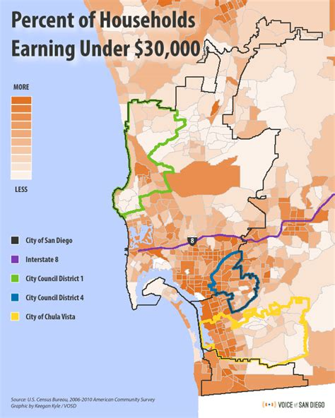 sections of san diego where san diego s poorest live map voice of san diego