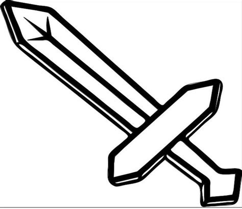 sword coloring pages minecraft sword coloring pages getcoloringpages