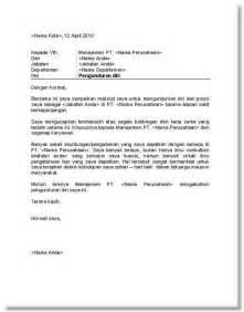 contoh surat pengunduran diri bagi yang mau resign kerja the