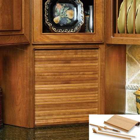 Tambour Cabinet Door Kit 24 Quot Wide Tambour Door Kit Oak C02 Vro 2 By Omega National Products Shop Save At