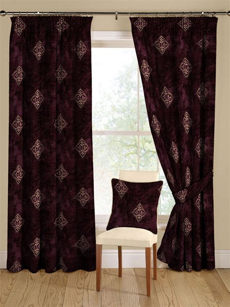 arcadia door curtains montgomery arcadia aubergine curtains 228cm x 182cm