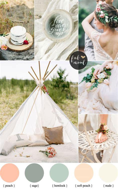 boho colors bohemian wedding palettte and colour