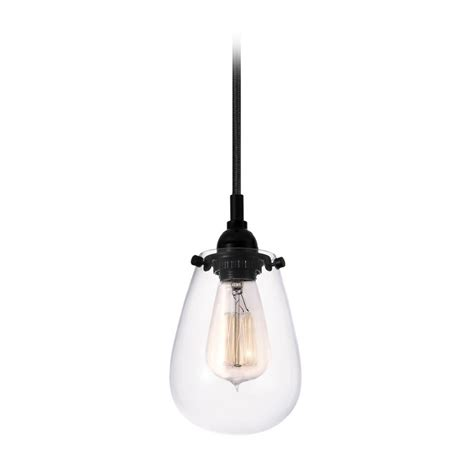 Industrial Mini Pendant Light Black Chelsea By Sonneman Mini Clear Lights