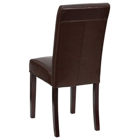 Upholstered Parsons Dining Chair In Dark Brown Bt 350 Upholstered Parsons Dining Chairs
