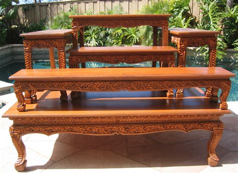 carved coffee tables opium legs tables end tables