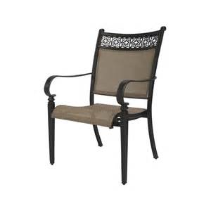Garden Treasures Patio Chairs Shop Garden Treasures Set Of 2 Potters Glen Bronze Sling Seat Aluminum Patio Dining Chairs At
