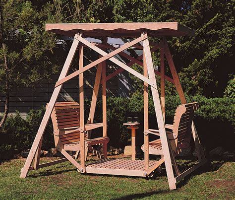 site swing shopsmith canopy glider swing plans