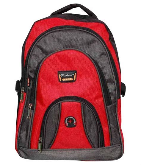 karban red polyester school bag buy karban red polyester