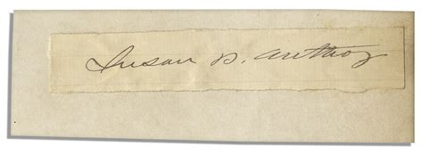 anthony daniels signature suffragette susan b anthony s signature on slip of paper