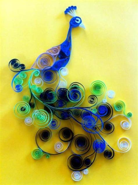 How To Make Paper Quilling Peacock - paper quilling birds designs and ideas chilli