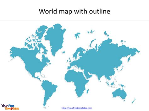 World Maps Blank Template Free Powerpoint Templates Microsoft Powerpoint Templates World Map