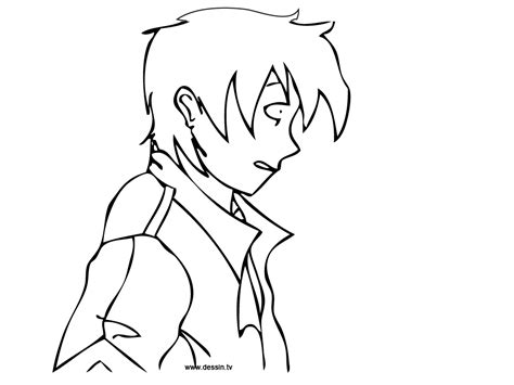 Manga Anime Guy Coloring Coloring Pages Anime Boy Coloring Pages