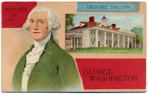 born george washington george washington born 1732 died 1799 a photo on