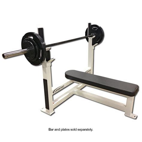 flat gym bench legend fitness flat olympic weight bench 3105