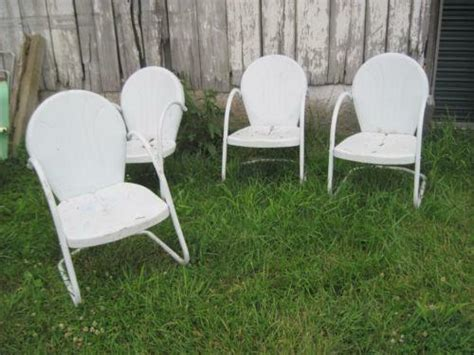 retro metal patio chairs vintage metal lawn chairs ebay