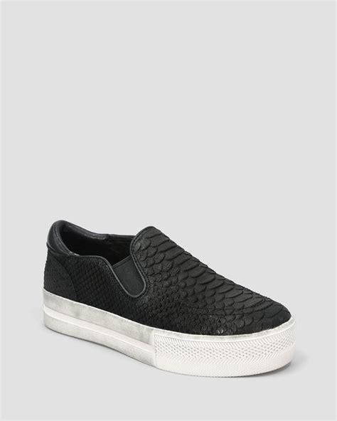 platform black sneakers ash slip on platform sneakers jungle in black lyst