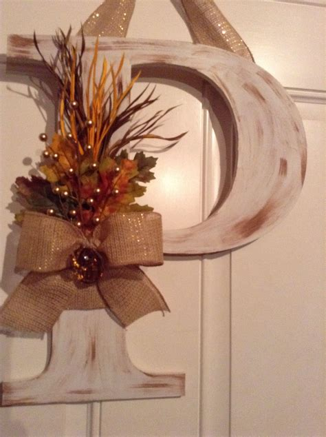 fall p monogram decor wreaths monogram door decor