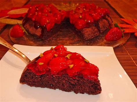 erdbeer schoko kuchen schoko erdbeer kuchen sandra chefkoch de