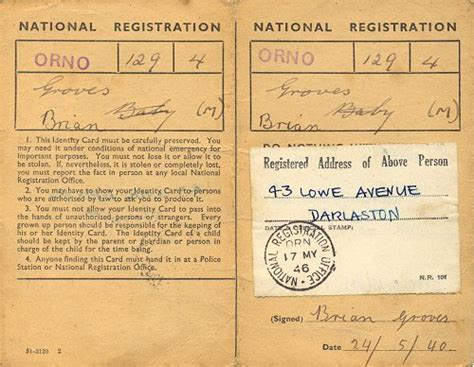 world war 2 identity card template a brief history of darlaston